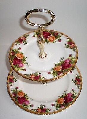 Royal Albert Old Country Roses  - 2 Tier Cake Stand Plates (100)