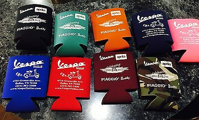 Vespa Koozies NEW Price Is For 1 KOOZIE. All Colors Shown MOST LIKELY Available!