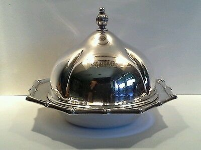 Vintage Silverplated Viners Butter/Candy Dish with Lid