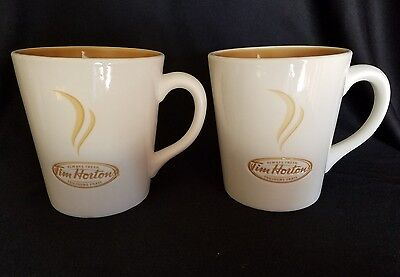 SET 2 Tim Hortons Always Fresh English French # 006 Coffee Tea Mug Cups Limited
