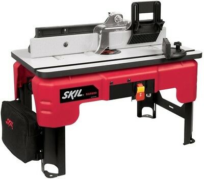 Skil RAS800 Smooth Top Router Table stand w Folding Leg Design Storage Bag