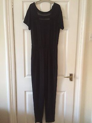 Size 10 Open Back Jumpsuit By Topshop