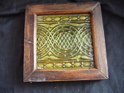 Reclaimed Victorian Antique Craven Dunnill & Co.Framed Floor Tile **