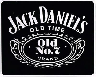JACK DANIELS OLD NO 7  Decal Sticker  Quality Vinyl  Long Lasting Free Postage