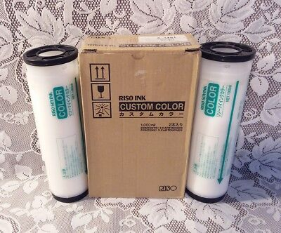 NEW Riso Ink Custom Color WHITE VERY RARE S-3481 Box of 2 Cartridges