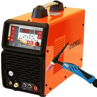 200Amp Pulse Ac/Dc Tig/Mma Inverter Welder 3 In 1 Welding Machine + Accessories