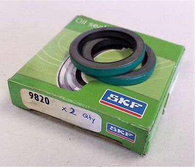 (LOT OF 2)  9820 HM14 R - SKF CR Chicago Rawhide Oil Seal  * NEW *