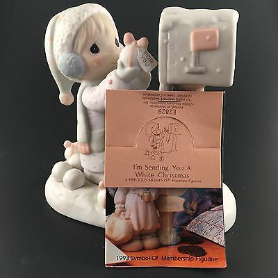 PRECIOUS MOMENTS~E-2829~I'm SENDING YOU A WHITE CHRISTMAS~ IN BOX w/TAGS~MIB