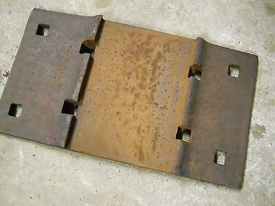 rail road track plate RR  vintage  tie base  railroad double shoulder MARKED USS