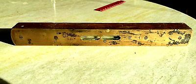 Vintage Timber Level Collectable Tool w. Brass face GC Great to Restore/Display