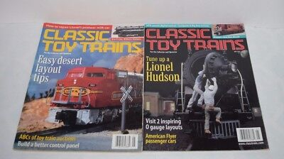 Lot of 2 Classic Toy Trains Magazines Train May 1999 & May 2000