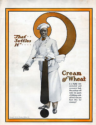 1918 Cream orf Wheat Ad --Rastus !!!---- t693