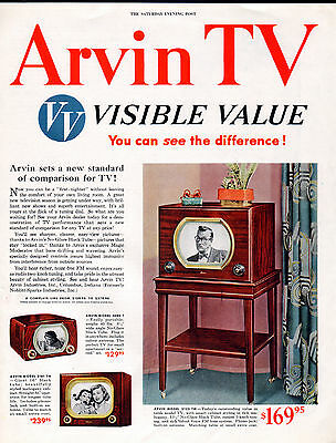 1950 Arvin TV ad - Early TV Manufacturer----/804