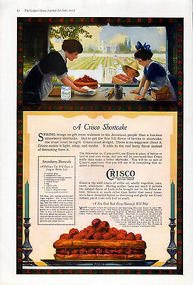 1917 Crisco ad --Frying, Shortening & Cake making- large 11 x 16 inches--ob