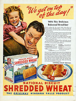 1939 Shredded Wheat Ad-National Biscuit Co -Original Niagra Falls Product--z1098
