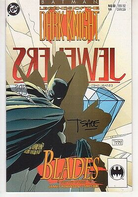 Batman - Legends of the Dark Knight #33 - SIGNED by Tim Sale ---- James Robinson
