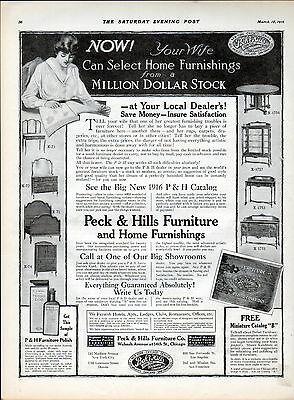 1916 Peck & Hills Furniture Store ad -Wabash Ave. -Chicago ---/291