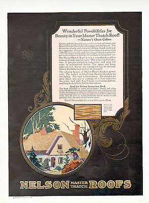 1926 Nelson Thatch Roofs ad  --Distinctive charm -l-780