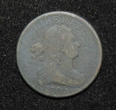 1806 U.S. Draped Bust Half Cent Early Copper Type Coin