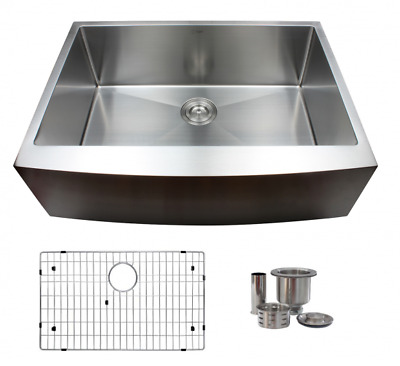 Apron Stainless Steel Sink, Single Bowl 18 Gauge, with grid, S-316G-Jade