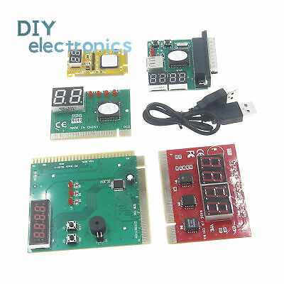 2/4 Digit 3 in1 PCI-E PC Analyzer Analysis Diagnostic USB Card POST Card TOP