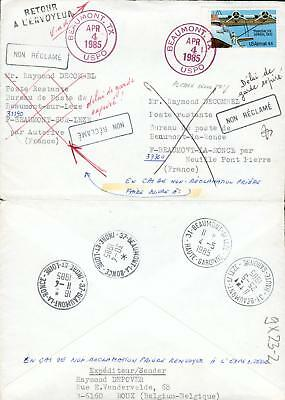 USA France special 2 state cover from Beaumont gx23