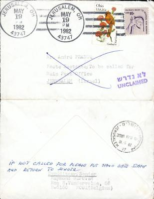 USA Israel special 2 state cover Jerusalem gx35