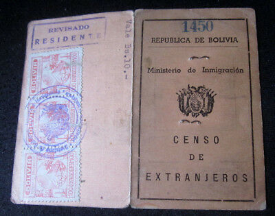 1950s Bolivia Taxation & Finance Stamps In Photo Booklets