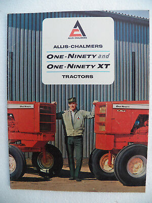 Allis-Chalmers One-Ninety / One-Ninety XT Sales Brochure