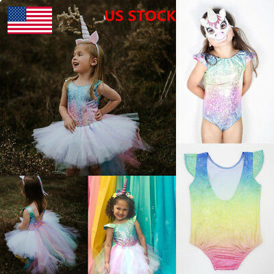 Baby Girls Romper Jumpsuit Mermaid Outfits Backless Leotard Tops Sunsuit Clothes