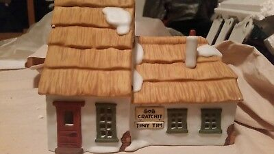 Dept56 The Heritage Village Dickens Village Cottage of Bob Cratchit and Tiny Tim
