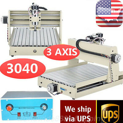 3 Axis 3040 Cnc Router Engraver Engraving Milling 3D Cutter Desktop Machine 110V