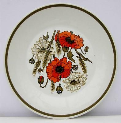Vintage JG Meakin Poppy Side Tea Plate Retro 1970s