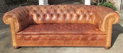 Classic Kensington Tufted Chesterfield Sofa Made in England Horse Hair stuffed
