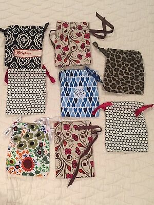 Brighton Lot Of 8 Fabric Bag / Pouch For Jewelry