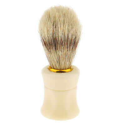 Men Daily Shaver Tool Shaving Beard Brush Cream Applying Tool Plastic Handle