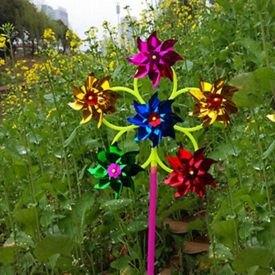 1PC Outdoor Wind Spinners Garden Patio Yard Decor Pinwheel Colorful Sparkle Toy