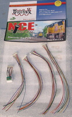 Five NEW JST 9-pin harnesses: 1 with NMRA 8 pin plug attached.
