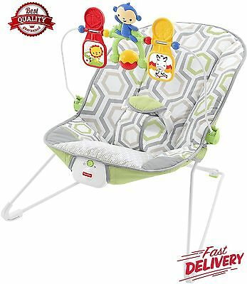 Fisher-Price Baby's Bouncer, Geo Meadow, One size New