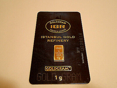 Gold Invest 1 Gram New Sealed 24K Solid Gold Bar