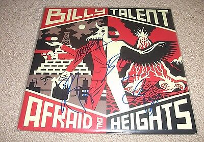 Billy Talent - Afraid of Heights Vinyl LP Record *Band Signed* Autographed!!