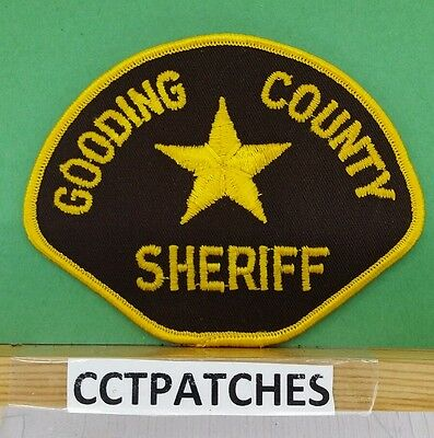 Gooding County, Idaho Sheriff Police Shoulder Patch Id
