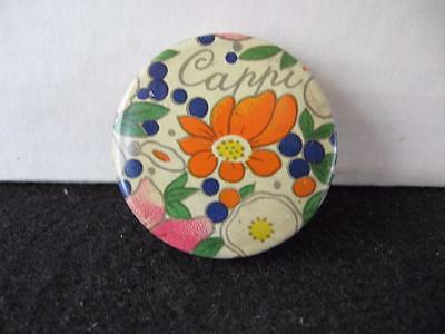 Vintage Sample Cappi Face Powder Tin~ Cheramy~New York