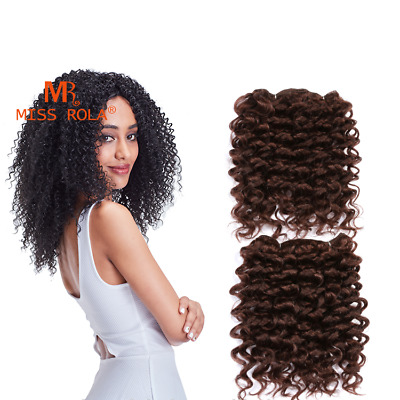 "10"" Short Bob Afro Kinky Curly Sprial Spring Curls Synthetic Hair Weave 2pc/Pack"