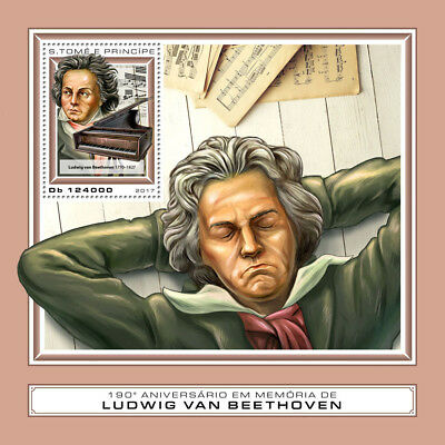 Z08 IMPERF ST17406b Sao Tome and Principe 2017 Ludwig van Beethoven MNH Mint