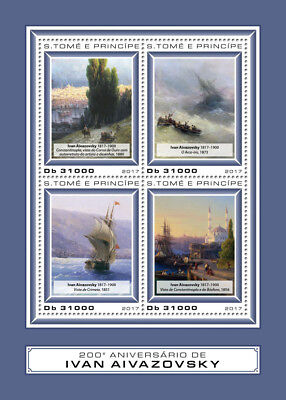 Z08 IMPERF ST17402a Sao Tome and Principe 2017 Ivan Aivazovsky MNH Mint