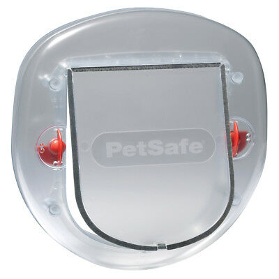 PetSafe 4-Way Pet Flap Puppy Cat Small Dog Flap Door Lockable 270 Frosted 5000