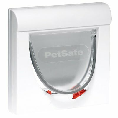 PetSafe Magnetic 4-Way Cat Flap Pet Door Puppy Small Dogs Classic 932 White 5032