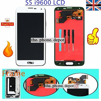LCD For Samsung Galaxy S5 i9600 G900F Display Digitizer Touch Screen Frame White