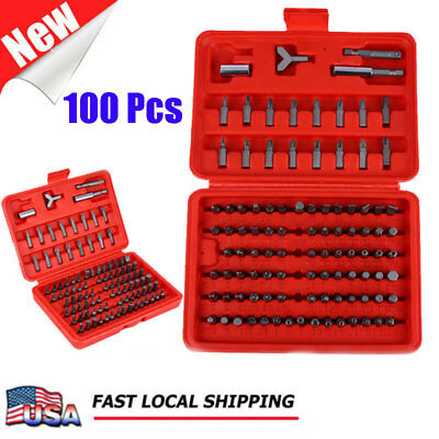 100pcs Multifunction Security Bit Set  Hand Tools Screw Driver Bits with Box